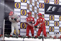 Podyum: Mika Hakkinen, Michael Schumacher ve Rubens Barrichello