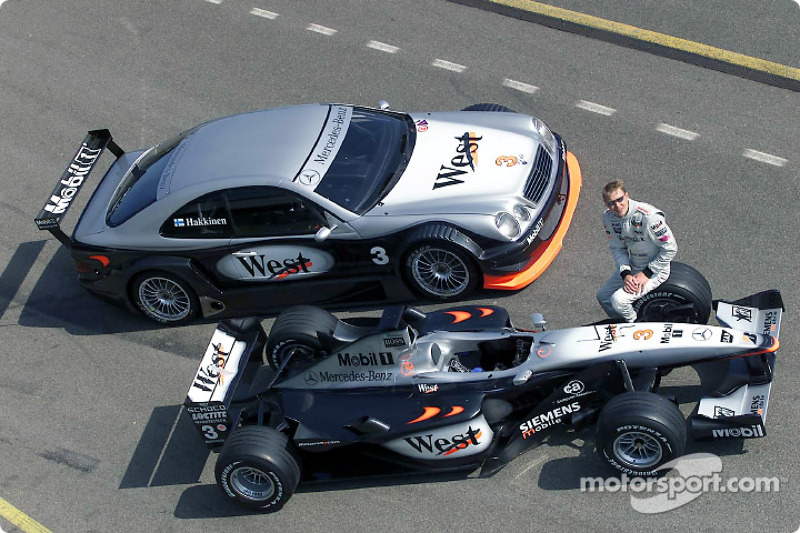 mika hakkinen completed 31 laps with the amg mercedes clk-dtm in
