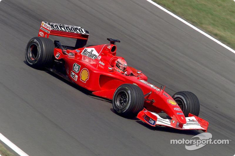 2001-2002: Ferrari F2001 (десять побед, титул в КК в 2001-м)