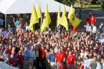 Ferrari World Championship celebration