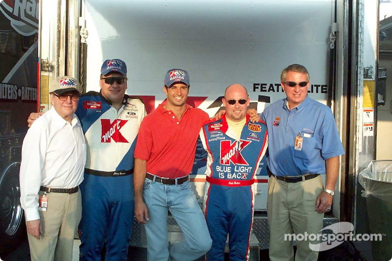 Carl Haas, Jimmy Spencer, Christian Fittipaldi, Todd Bodine and Travis Carter
