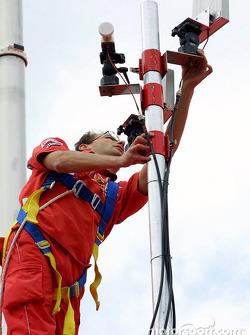 El Equipo Ferrari preparándose para el fin de semana