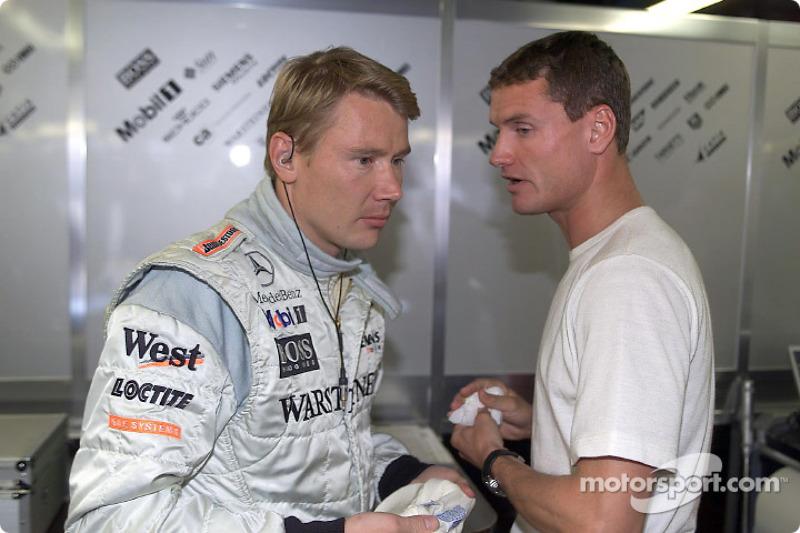 Mika Hakkinen and David Coulthard