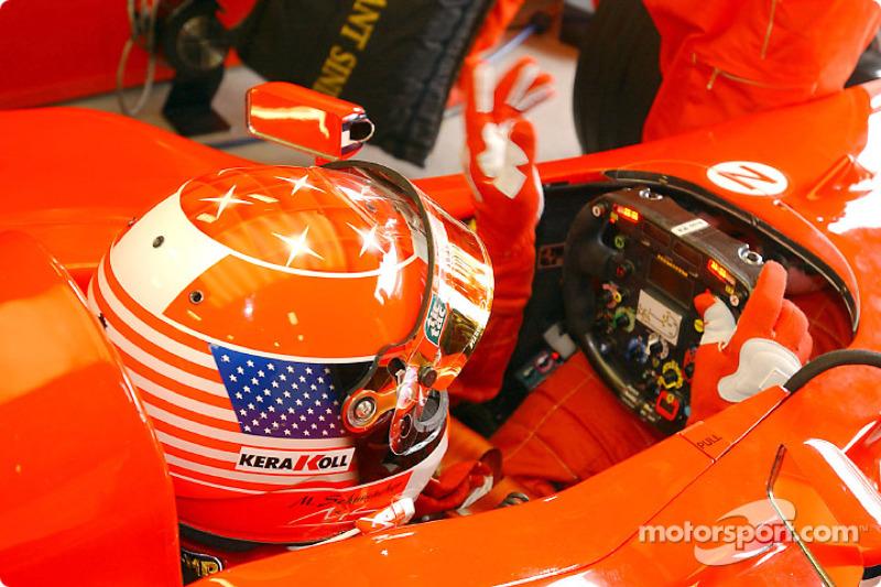 A special helmet for Michael Schumacher