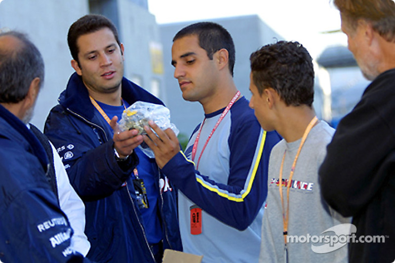 Juan Pablo Montoya and friends