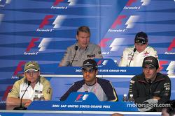 Conférence de presse du jeudi: Jacques Villeneuve, Juan Pablo Montoya, Pedro de la Rosa, Mika Hakkinen et Kimi Raikkonen