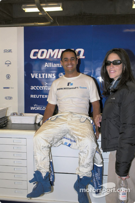 Juan Pablo Montoya and fiancée Connie