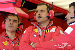 Ferrari garage during qualifying
