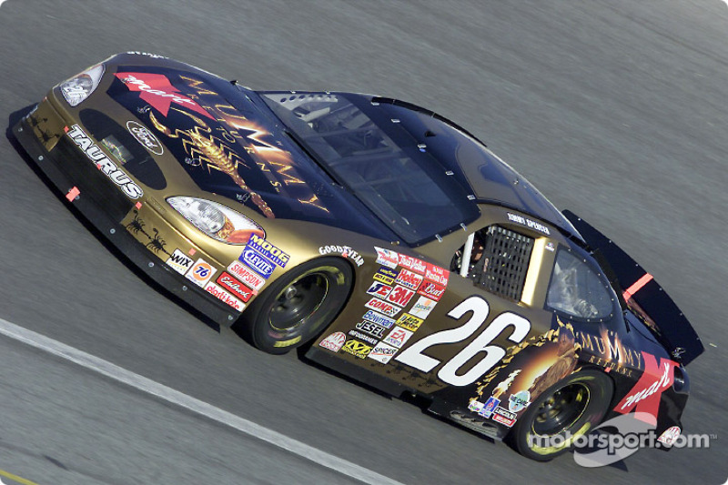 Jimmy Spencer in the Mummy Returns Ford Taurus