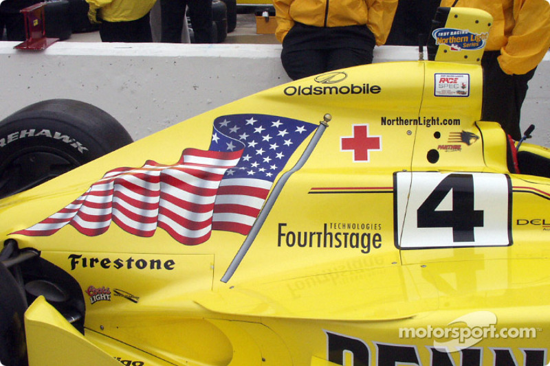 The best looking flag on a car at the event