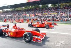 Michael Schumacher, Rubens Barrichello et Luca Badoer