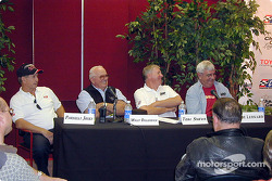 Champ car legends: Parnelli Jones, Wally Dallenbach, Tom Sneva and Joe Leonard