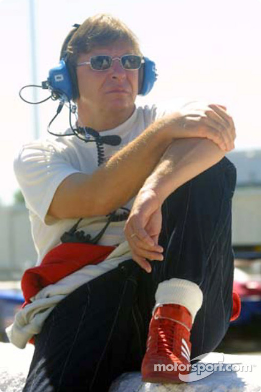 Didier Theys watches his co-drivers in the Doran Lista Racing