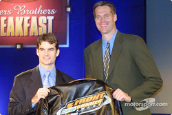 Jeff Gordon accepting the Front Runner Award at the NASCAR Winston Cup Awards Banquet
