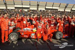 Luca Badoer et l'équipe Ferrari