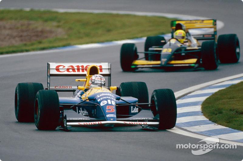 Nigel Mansell et Christian Fittipaldi