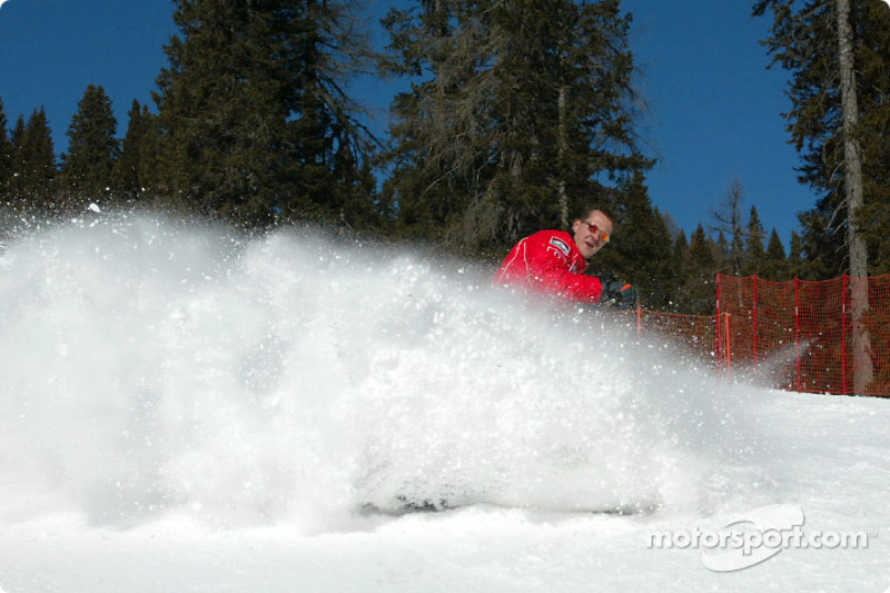 Michael Schumacher on skis