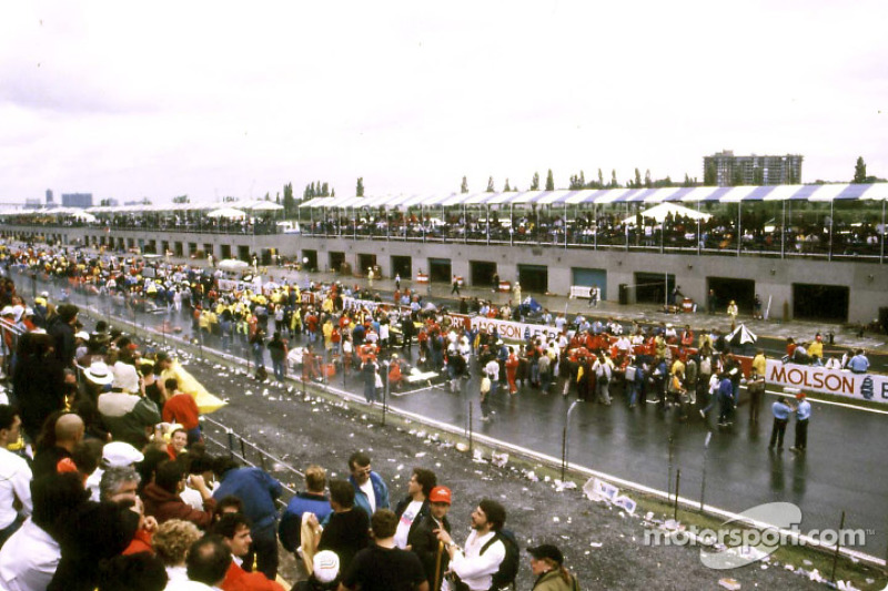 The starting grid