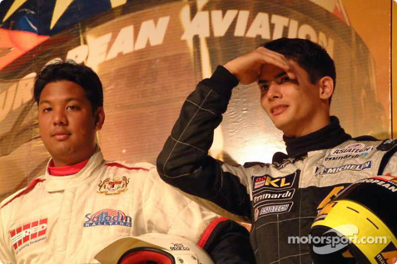 Rally driver Saladin Mazlan and Alex Yoong