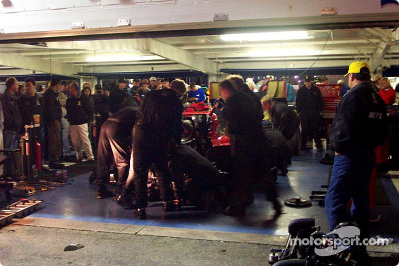 Ferrari garage action