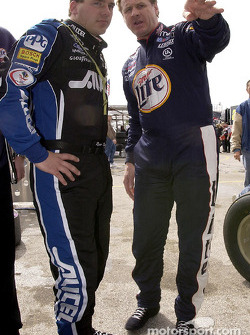 Teamates Rusty Wallace and Ryan Newman