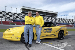 Jay Leno and Tony Stewart