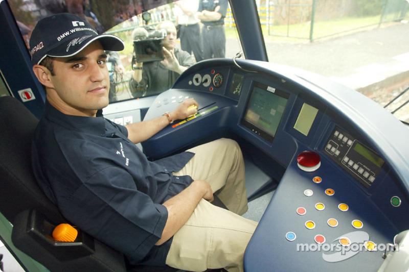 Compaq driver day: Juan Pablo Montoya lines up an alternative career as a Melbourne tram driver