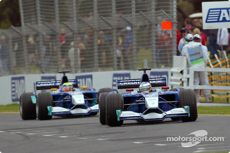 Nick Heidfeld and Felipe Massa before the race