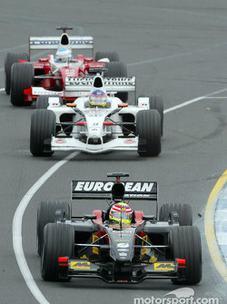 Alex Yoong, Jacques Villeneuve and Mika Salo