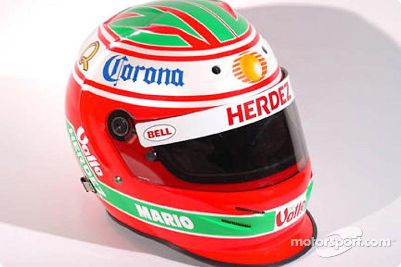 Mario Dominguez's special edition helmet for Monterrey