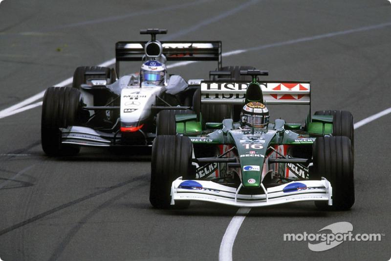 Eddie Irvine and Kimi Raikkonen