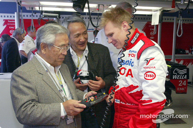 Mr. Toyoda, Mr. Tomita and Mika Salo