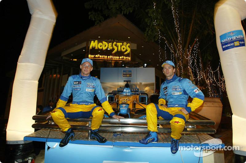 Boys night out: Jenson Button and Jarno Trulli