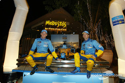 Boys night out: Jenson Button and Jarno Trulli