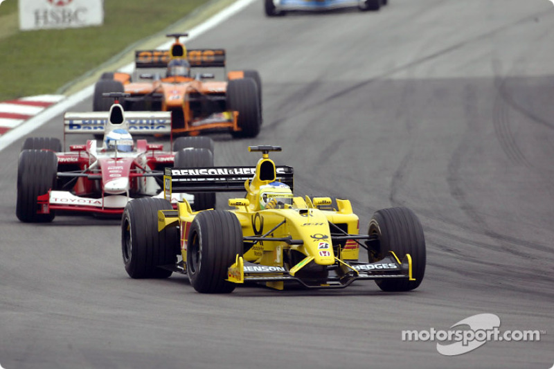 Giancarlo Fisichella et Mika Salo