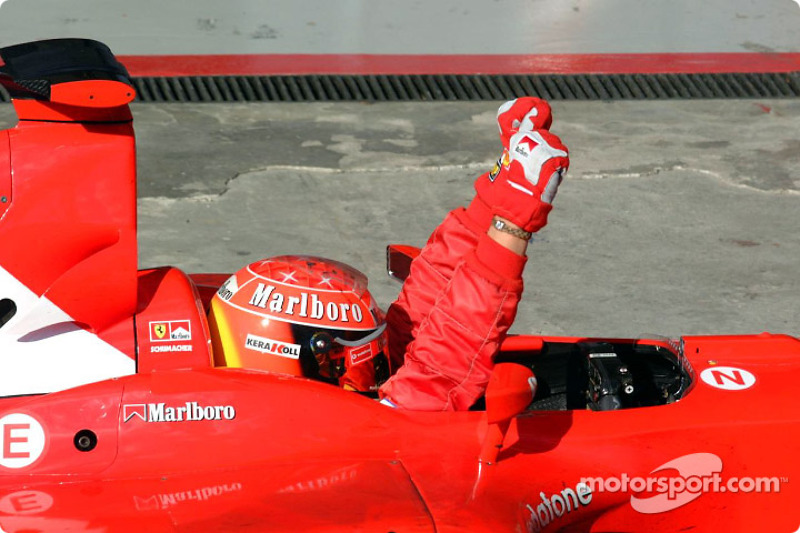 Ganador del GP de Brasil 2002: Michael Schumacher, Ferrari