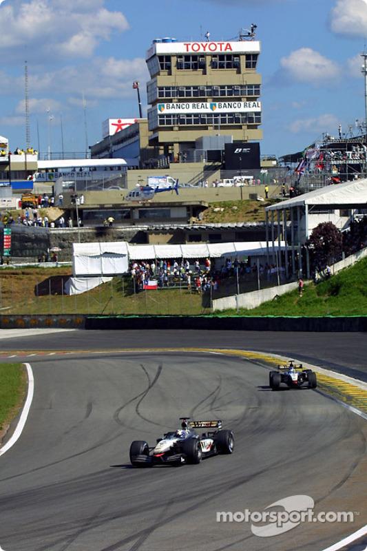 David Coulthard y Kimi Raikkonen