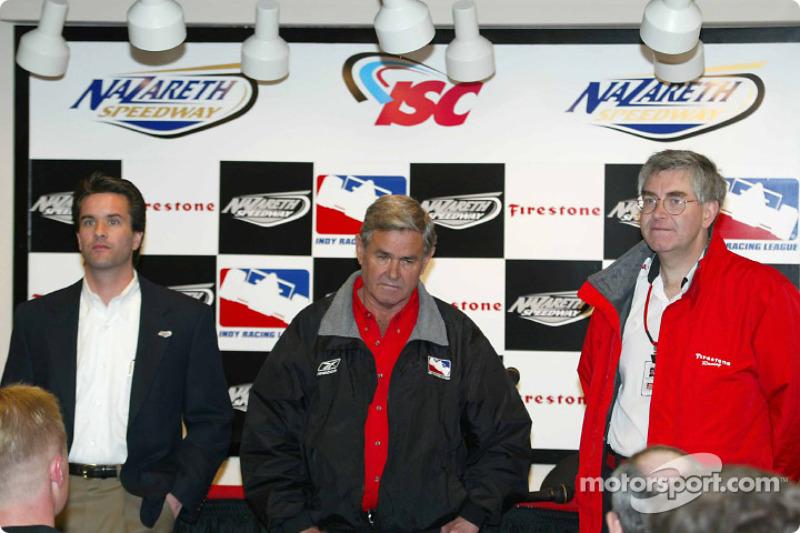Craig Rust, President of Nazareth International Speedway, Al Unser Sr. and Woddy McMillan from Firestone