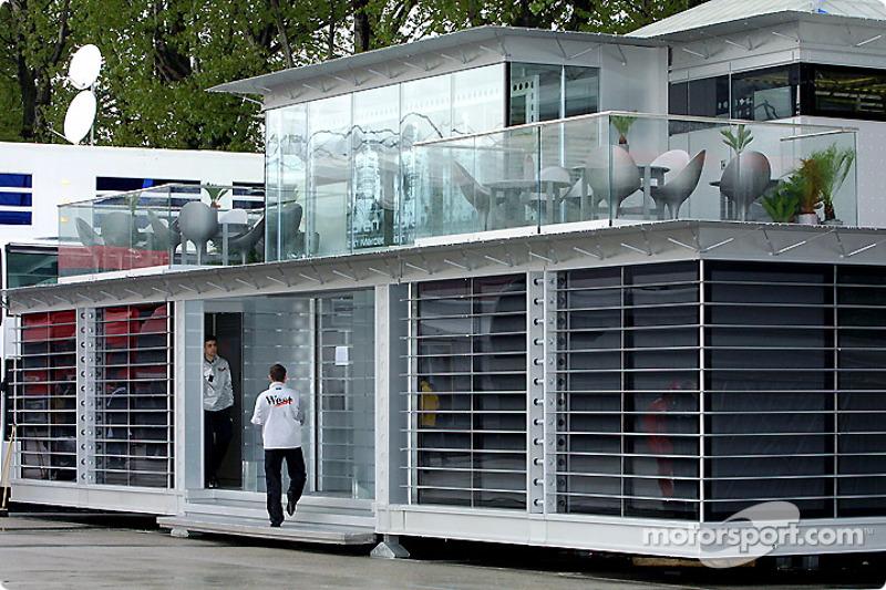 The West McLaren Mercedes Team Communications Centre