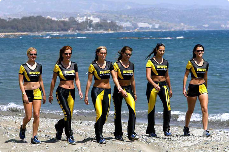 The charming Pirelli girls