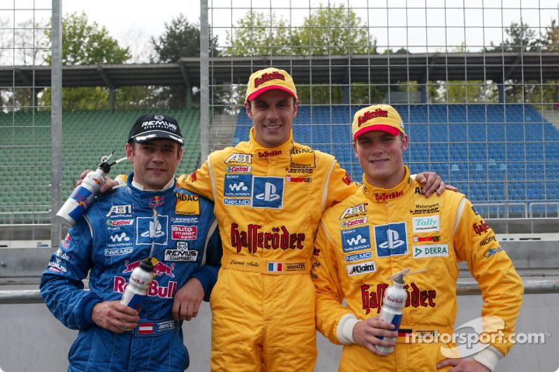 Karl Wendlinger, Laurent Aiello y Martin Tomczyk