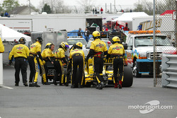 Sam Hornish Jr. out of the race