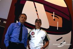 El artista británico Julian Opie junta el arte con las carreras de Fórmula 1: Julian Opie y Olivier