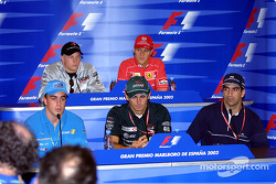 Thursday press conference: Fernando Alonso, Pedro de la Rosa and Marc Gene on the front row, Kimi Raikkonen and Michael Schumacher at the back