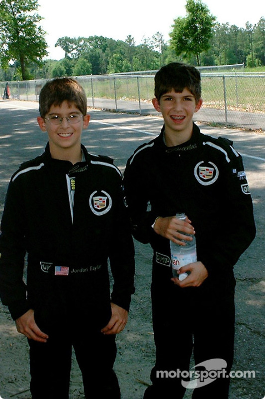 Ricky (12) and Jordan (10) Taylor of Team Cadillac ready for the race to get under way