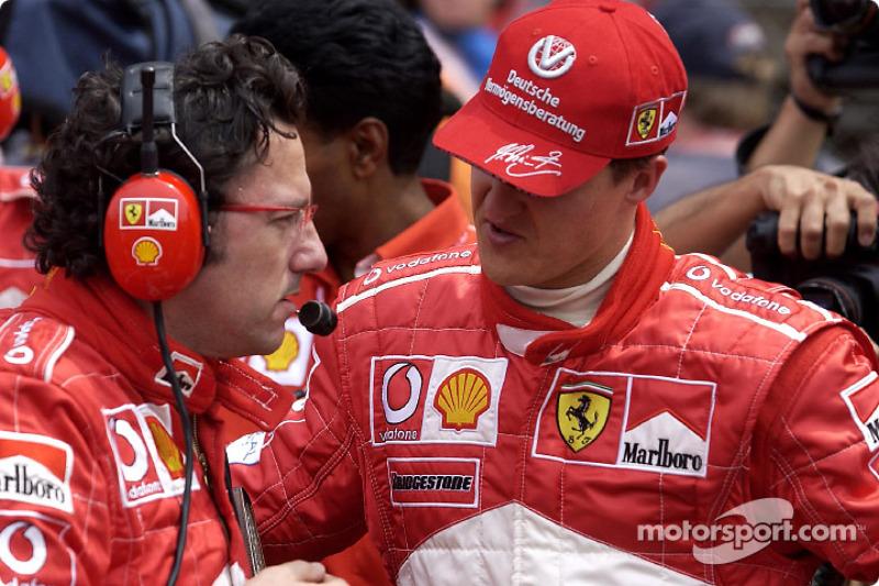 Luca Baldisserri y Michael Schumacher