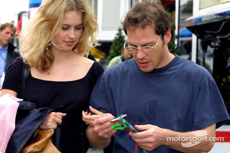 Jacques Villeneuve and fiancée Elly Green