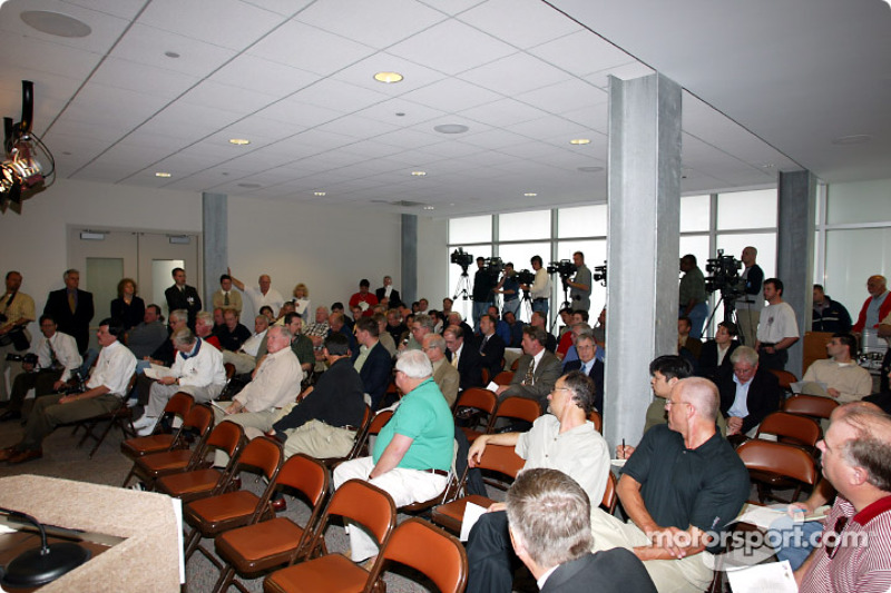 The press conference to announce