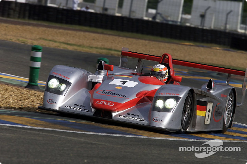 2002: Frank Biela, Tom Kristensen, Emanuele Pirro, Audi R8