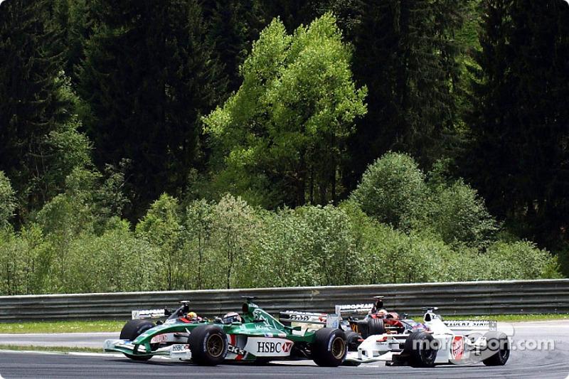Eddie Irvine and Jacques Villeneuve
